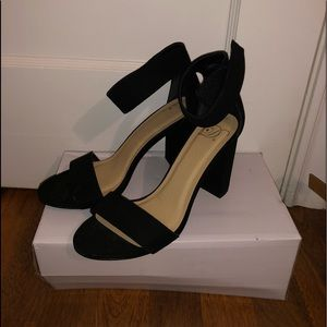 Classy Black Sued Heels